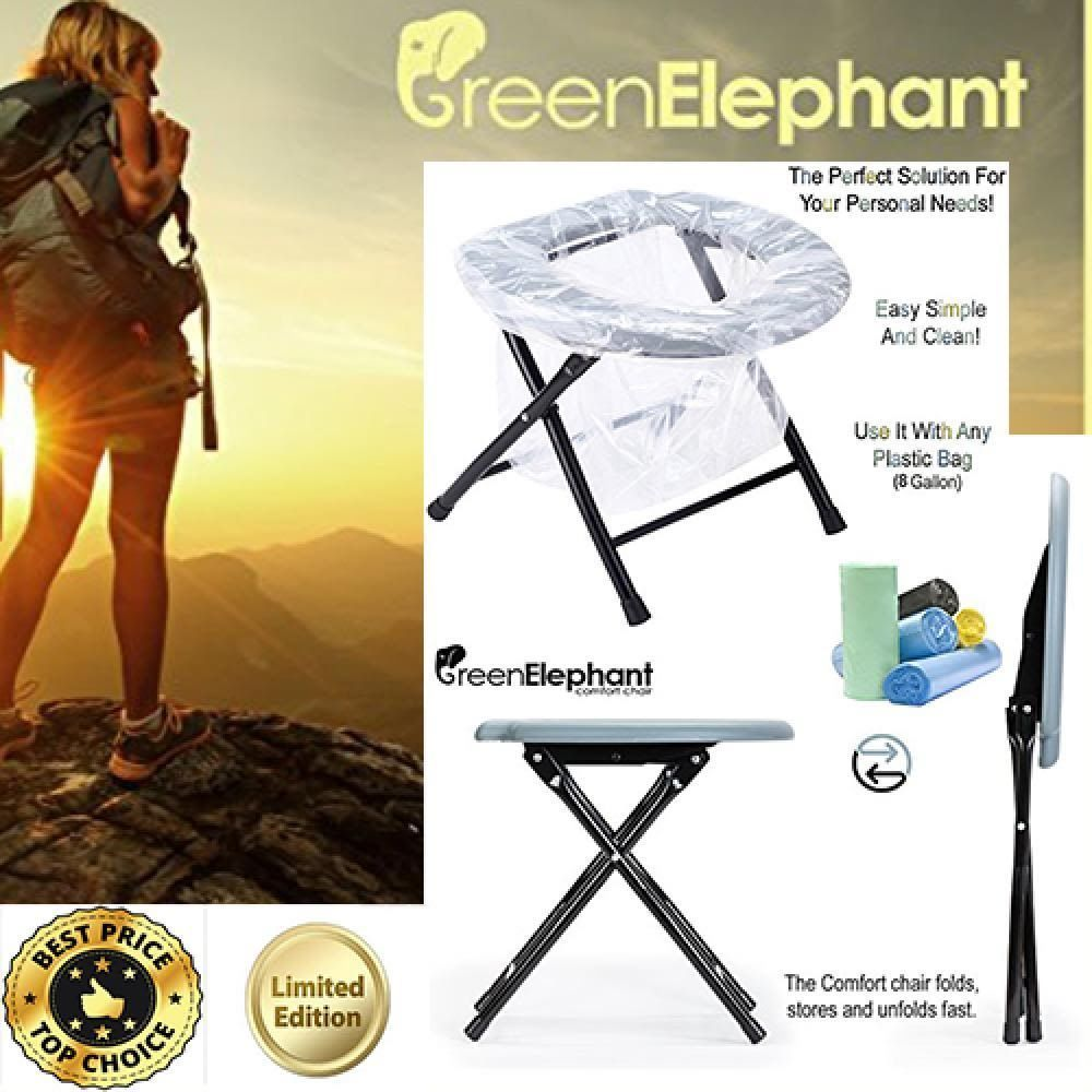 Enjoyable Portable Toilet Seat Potty Chair Folding Camping Hiking Theyellowbook Wood Chair Design Ideas Theyellowbookinfo