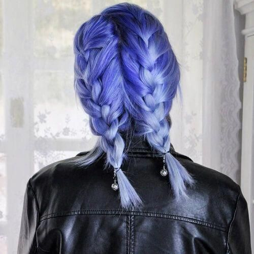 Image result for blonde periwinkle hair roots #blueombre#blonde #blueombre #hair...#blonde #blueombre #blueombreblonde #hair #image #periwinkle #result #roots