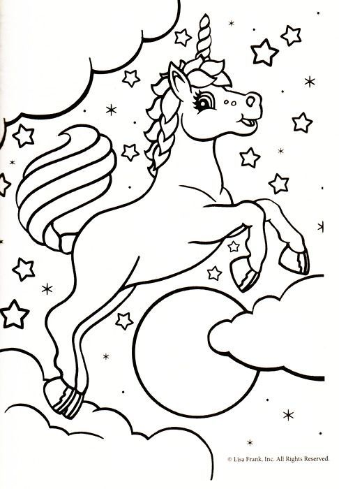 Unicorn coloring page: | Coloring 4 Kids: Fairy Tale | Pinterest ...