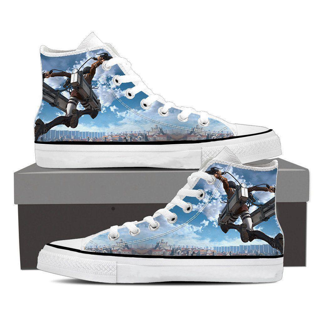 Attack On Titan Captain Levi High Jumping Cool Design Shoes #AttackOnTitan #Handsome #Levi #Cool #FanArt #3DPrint #Shoes