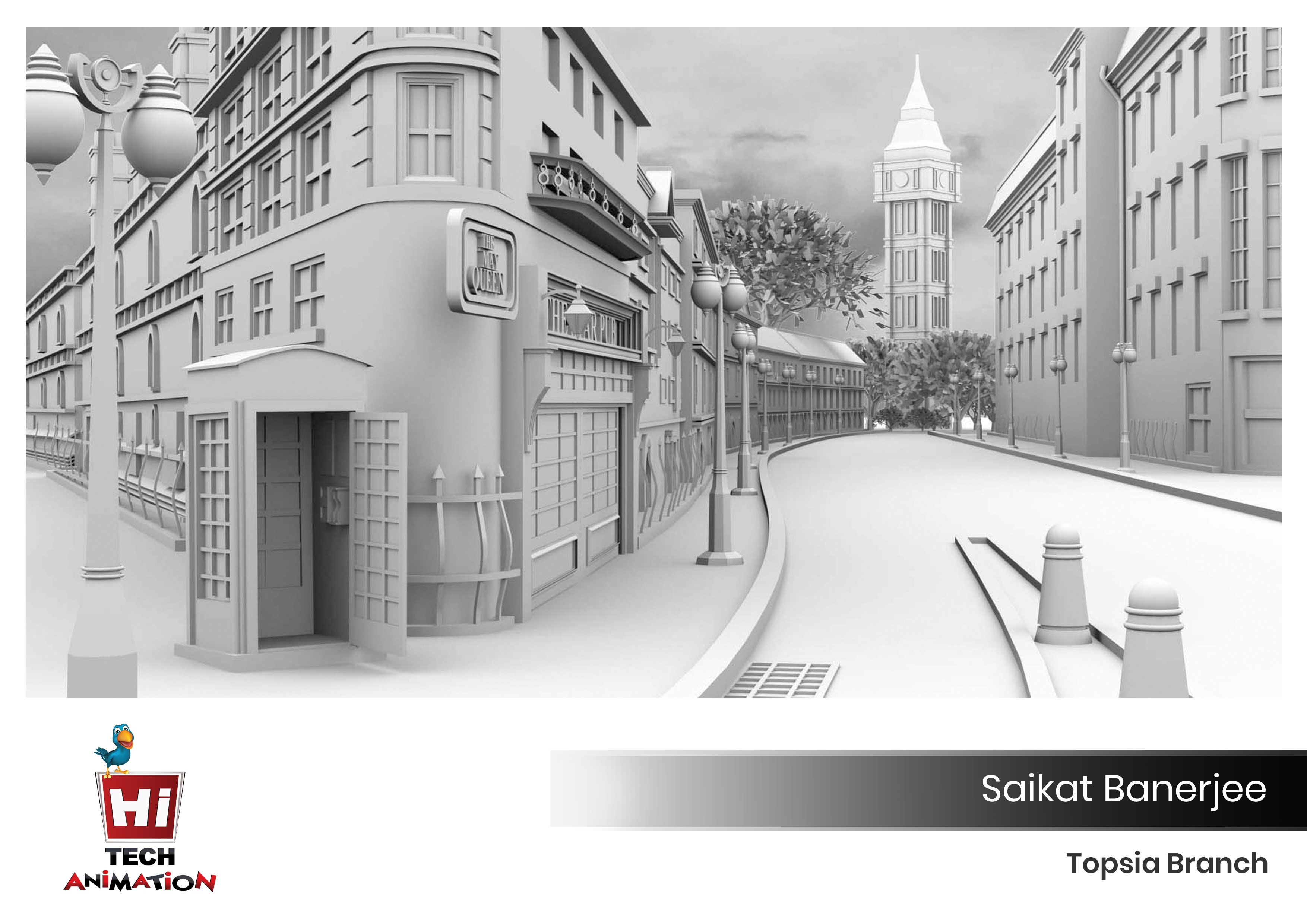 3D- Modeling work by a student of Hi-Tech Animation  Build your
