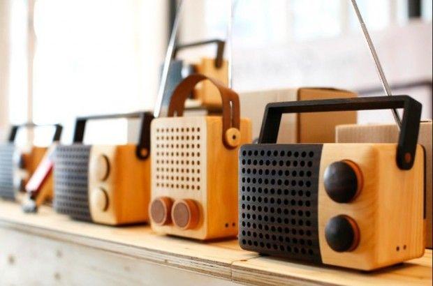 Wooden Radio Eco Design Radio design, Speaker box diy