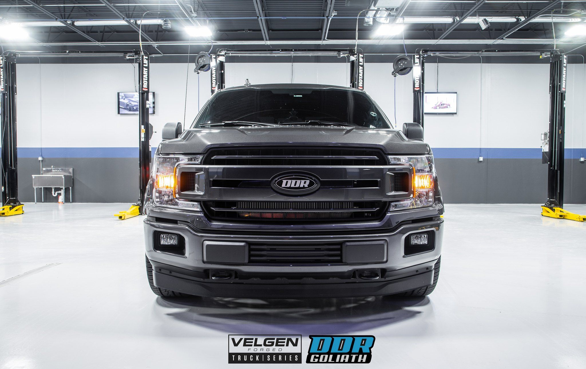 Gray Ford F 150 Gets Blacked Out Grille For Aggressive Look Carid Com Gallery Ford F150 Ford Grilles