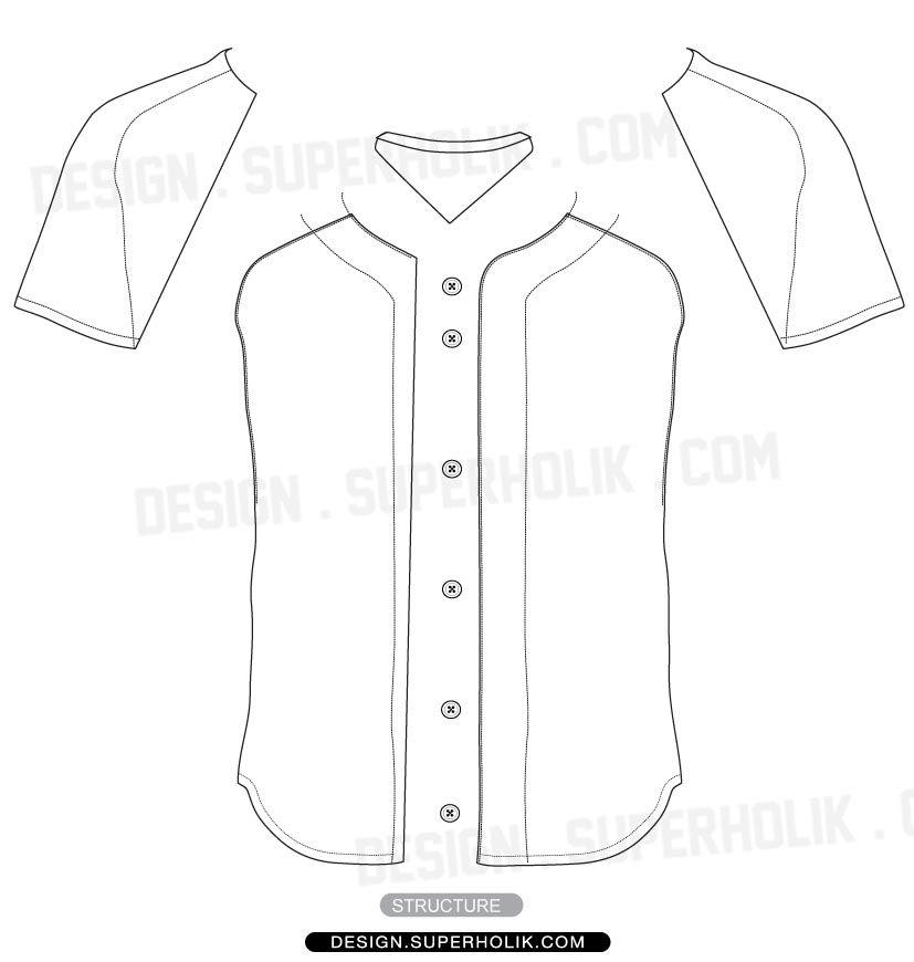 baseball jersey shirt vector template | wear | Pinterest | Baseball ...