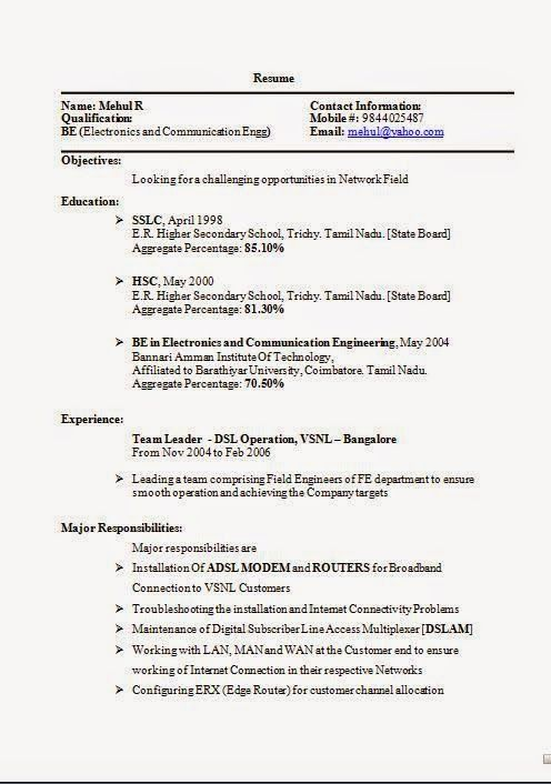 How To Prepare A Cv Sample Excellent Curriculum Vitae Resume With Career Objective For Be In Elect Download Resume Curriculum Vitae Resume Field Engineer