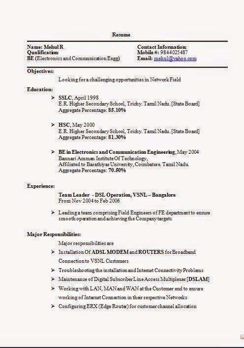 How To Prepare A Cv Sample Excellent Curriculum Vitae Resume