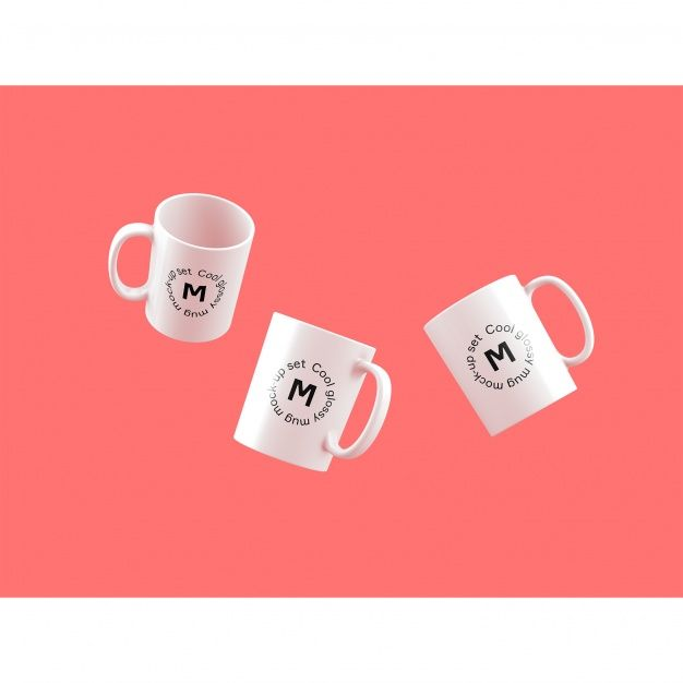 Download Three Mugs On Pink Background Mock Up For Free Mugs Pink Background Mother S Day Mugs