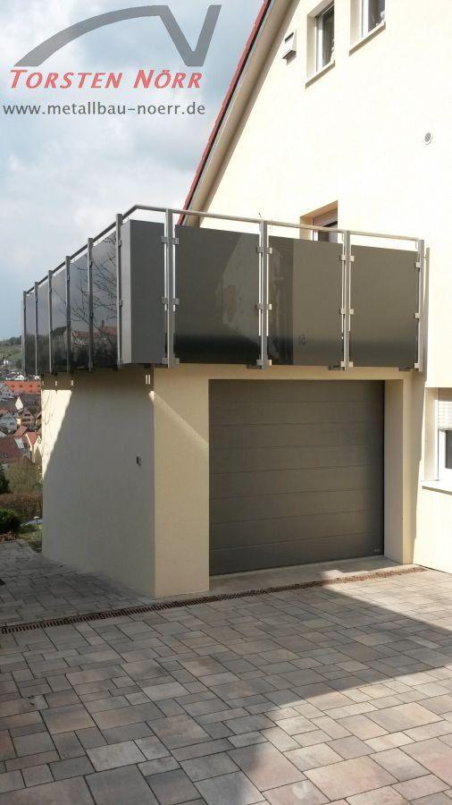 Terrassengeländer getöntes Glas – Torsten Nörr, Schlosserei & Metallbau