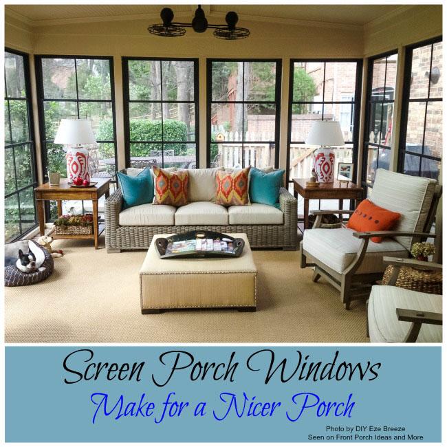 Screen Porch Windows Create Comfortable Porch Enclosures ...