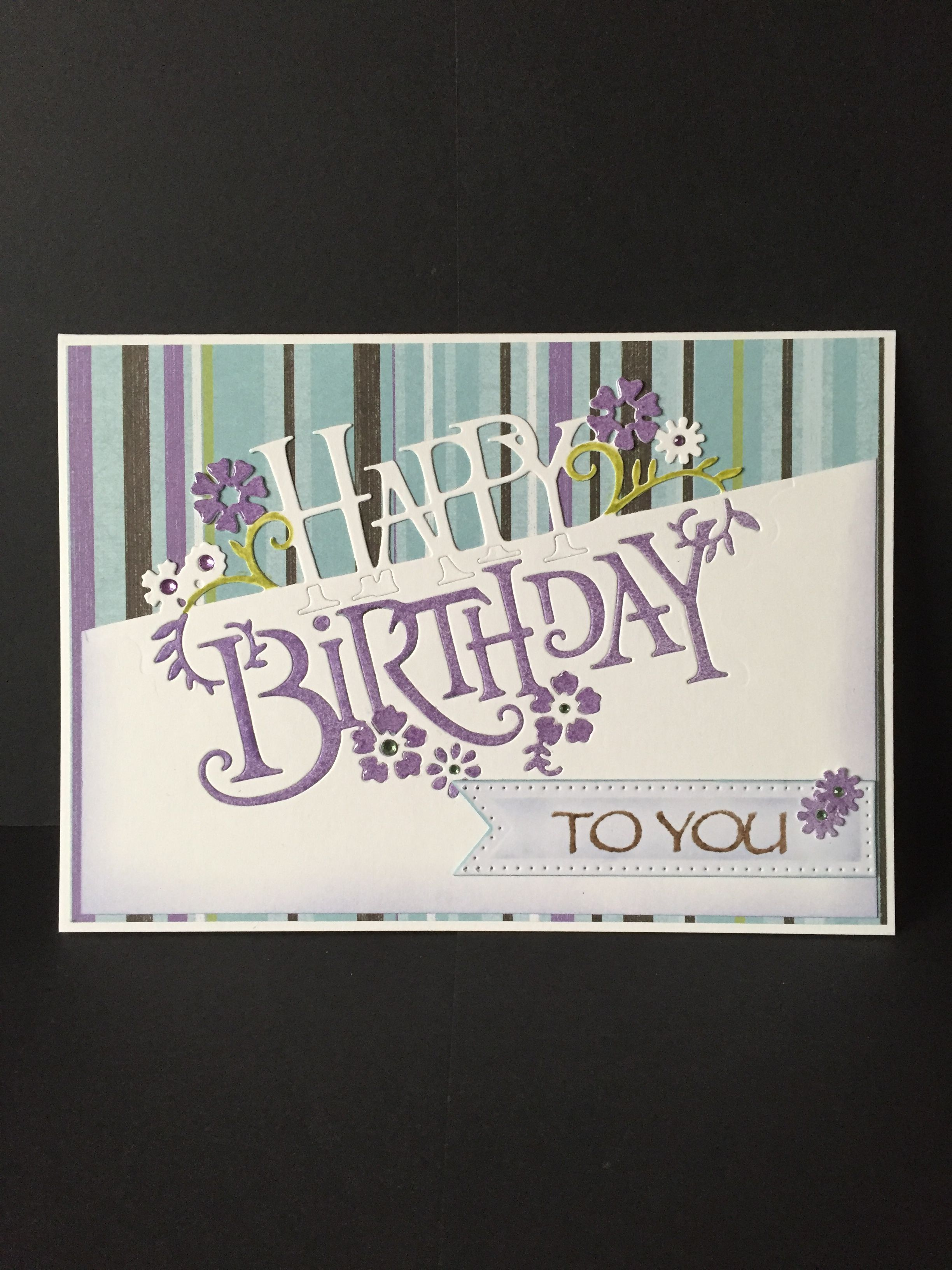 Creative Expressions Papercut Edger die Happy Birthday  Girl