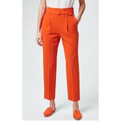 Bundfaltenhose in Orange windsor