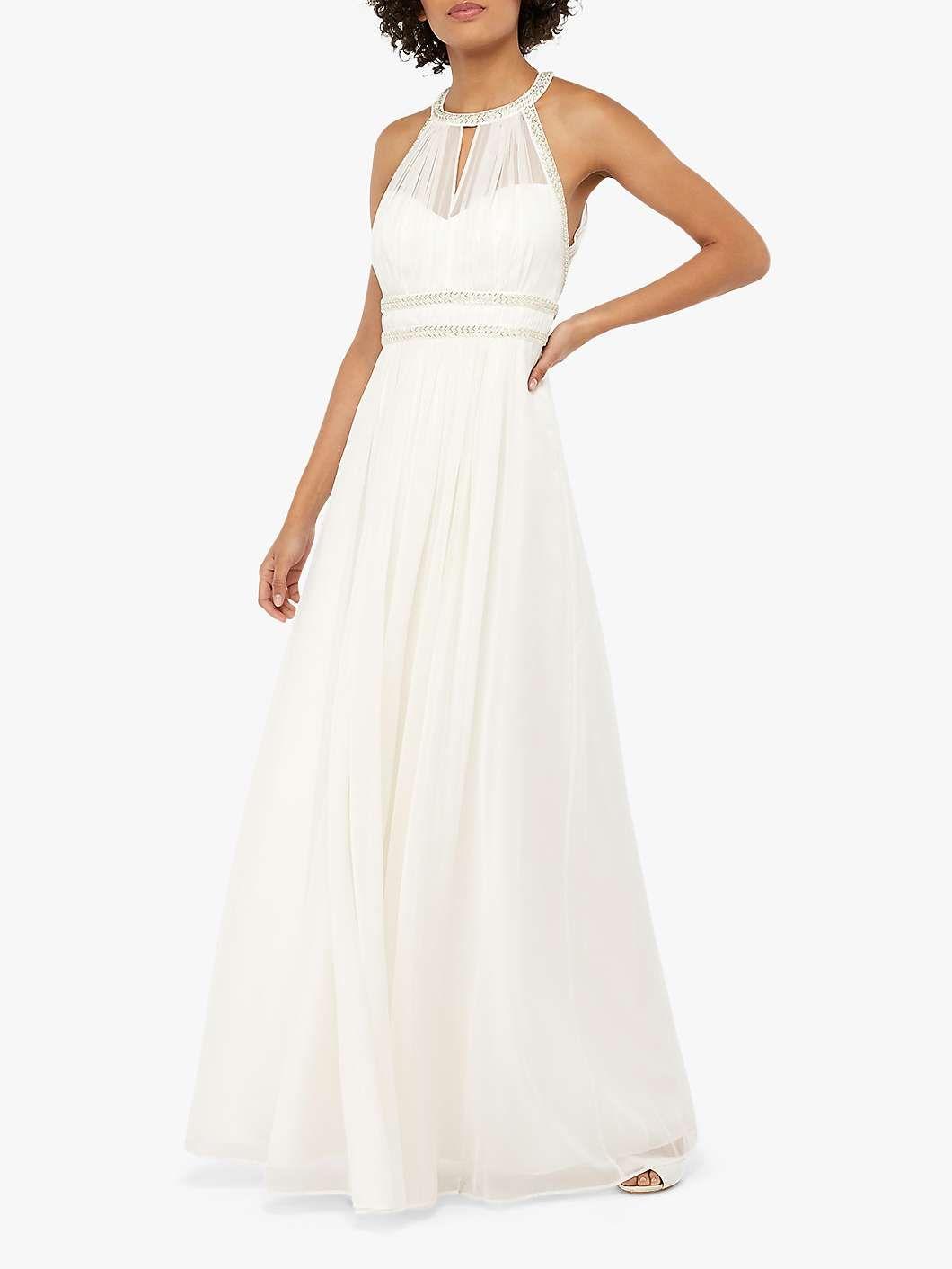 Monsoon Elanor Embellished Grecian Wedding Dress, Ivory #grecianweddingdresses