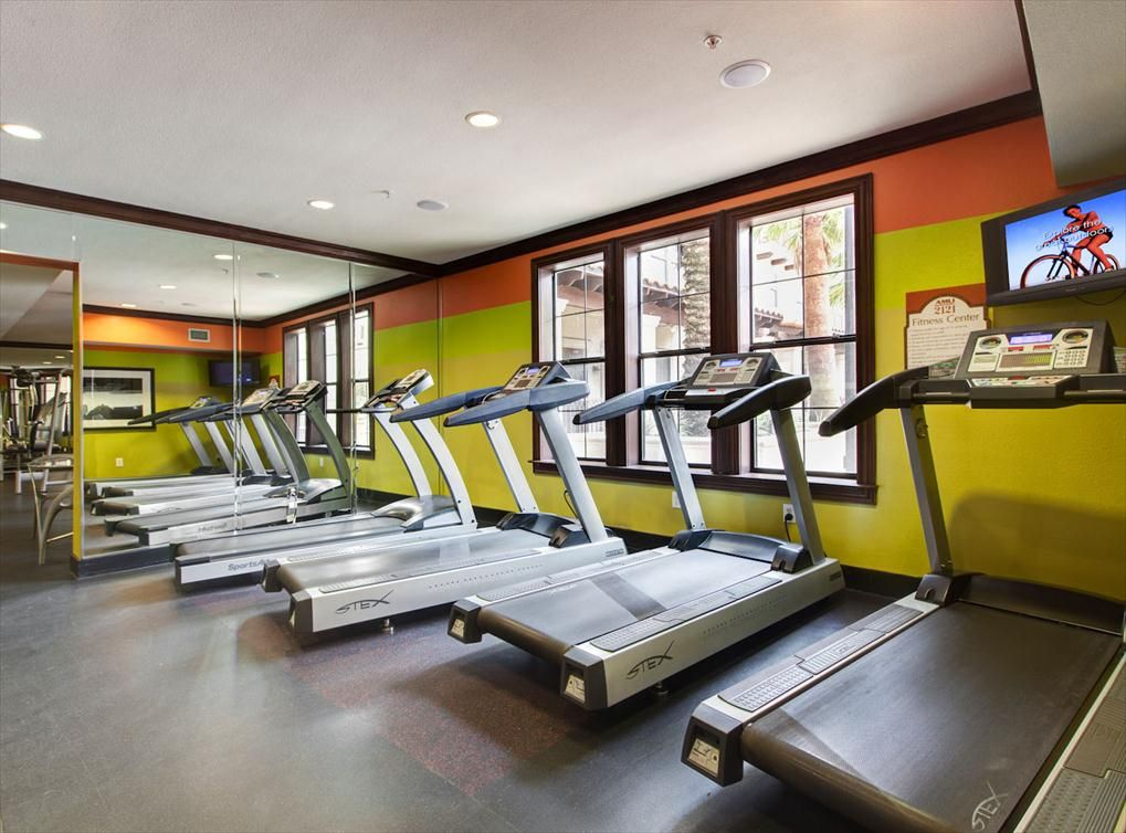 24hour fitness center with strength training and cardio