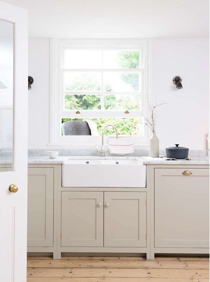Taupe Kitchen Cabinets Centsational Girl Here S A Lighter Version Of The Lowers I Thi Taupe Kitchen Cabinets Taupe Kitchen Farmhouse Style Kitchen Cabinets