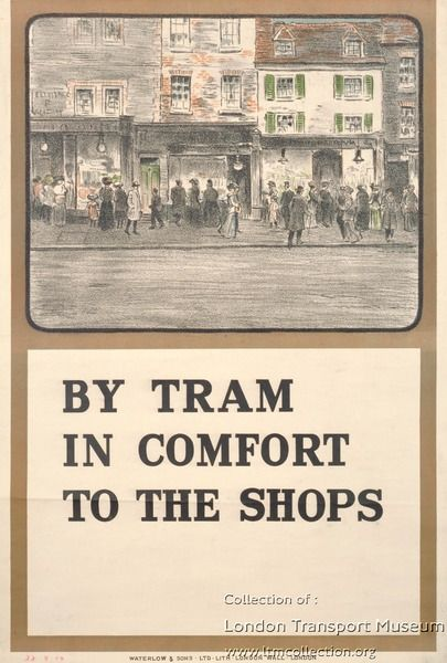 By tram in comfort to the shops ~ Charles Sharland