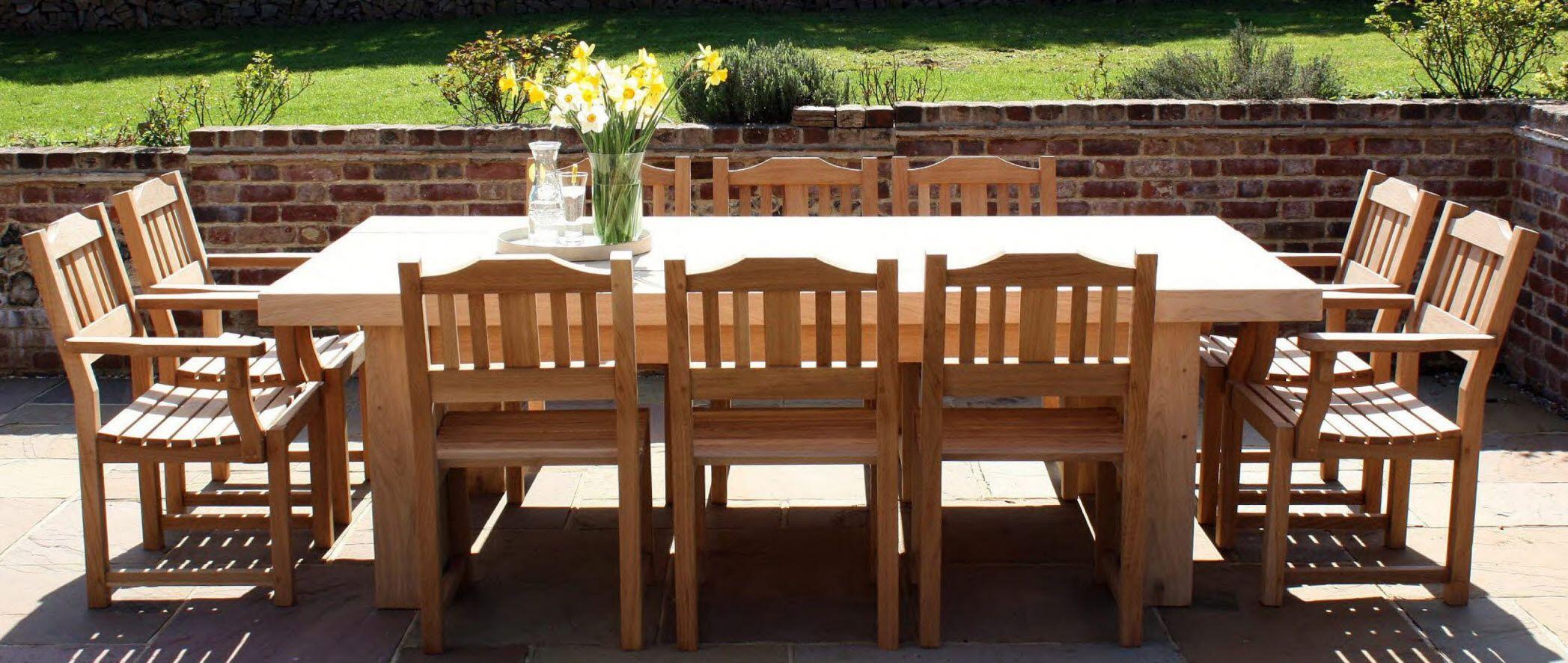 Gorgeous Oak Garden Furniture