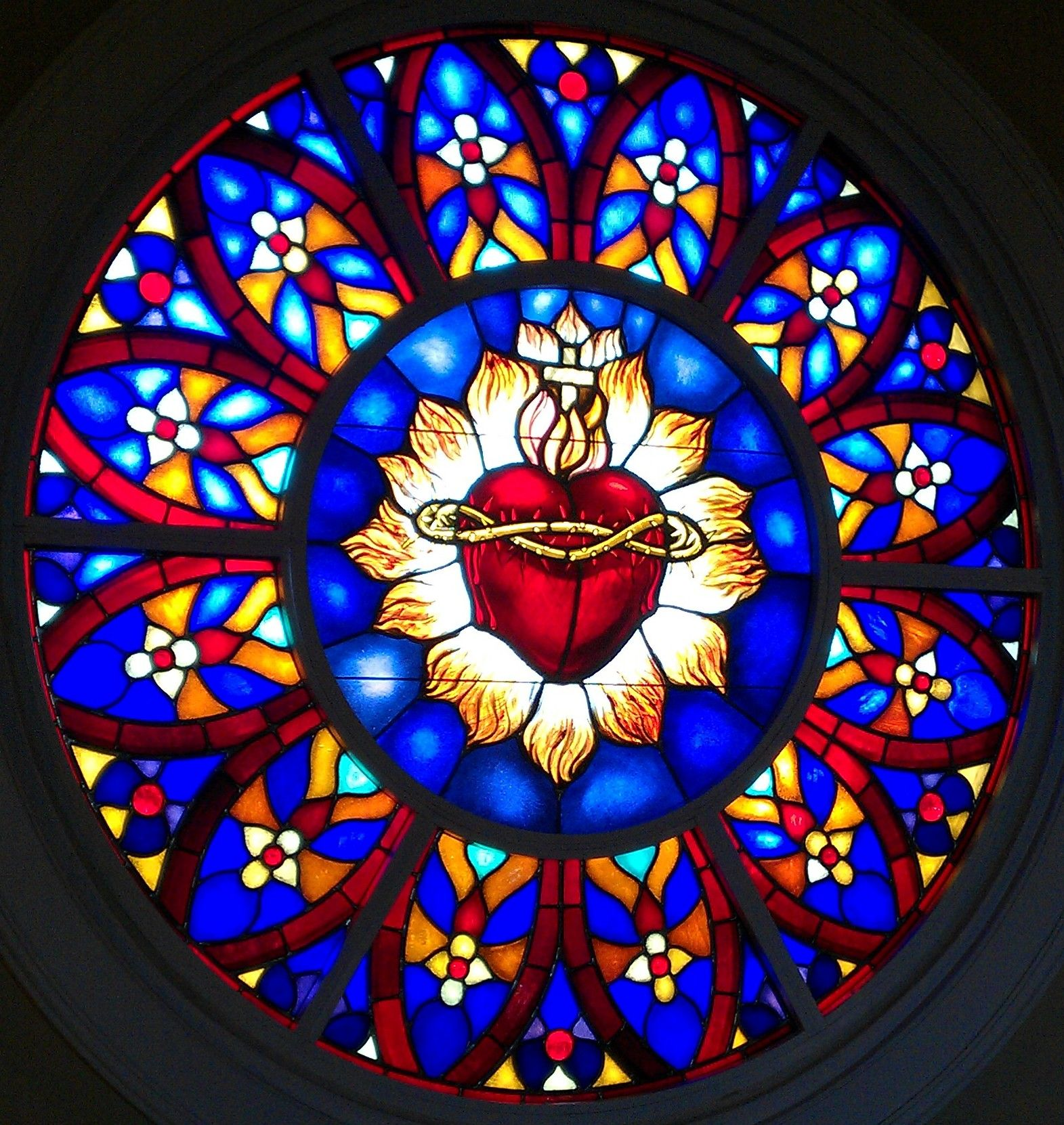 Image result for heart of christ stained glass