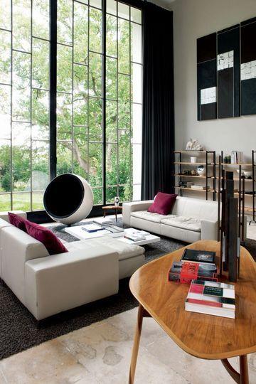 Rénovation du0027une villa au Pays Basque Salons, Villas and House windows