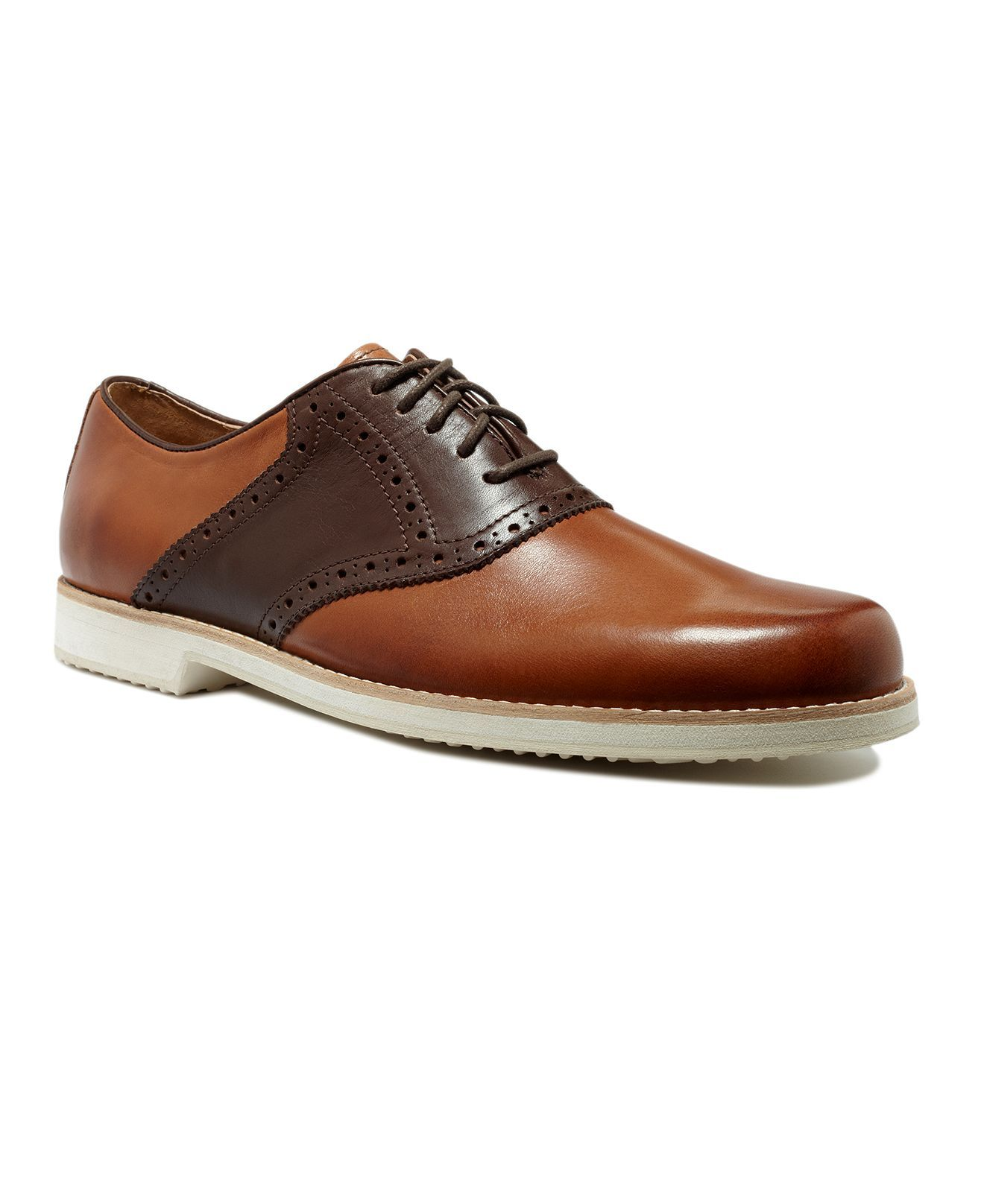 13d63956c0914 I thought these tan and dark brown Ralph Lauren saddle shoes were ...