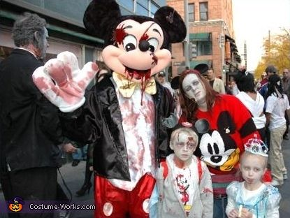 Mickey Mouse Zombie Costume | Homemade costumes, Costumes ...