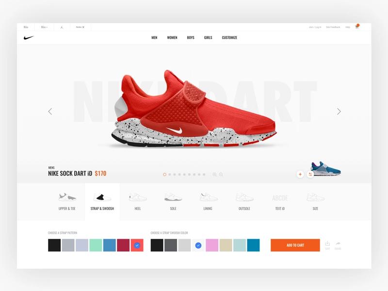 Nike id, Responsive web design inspiration