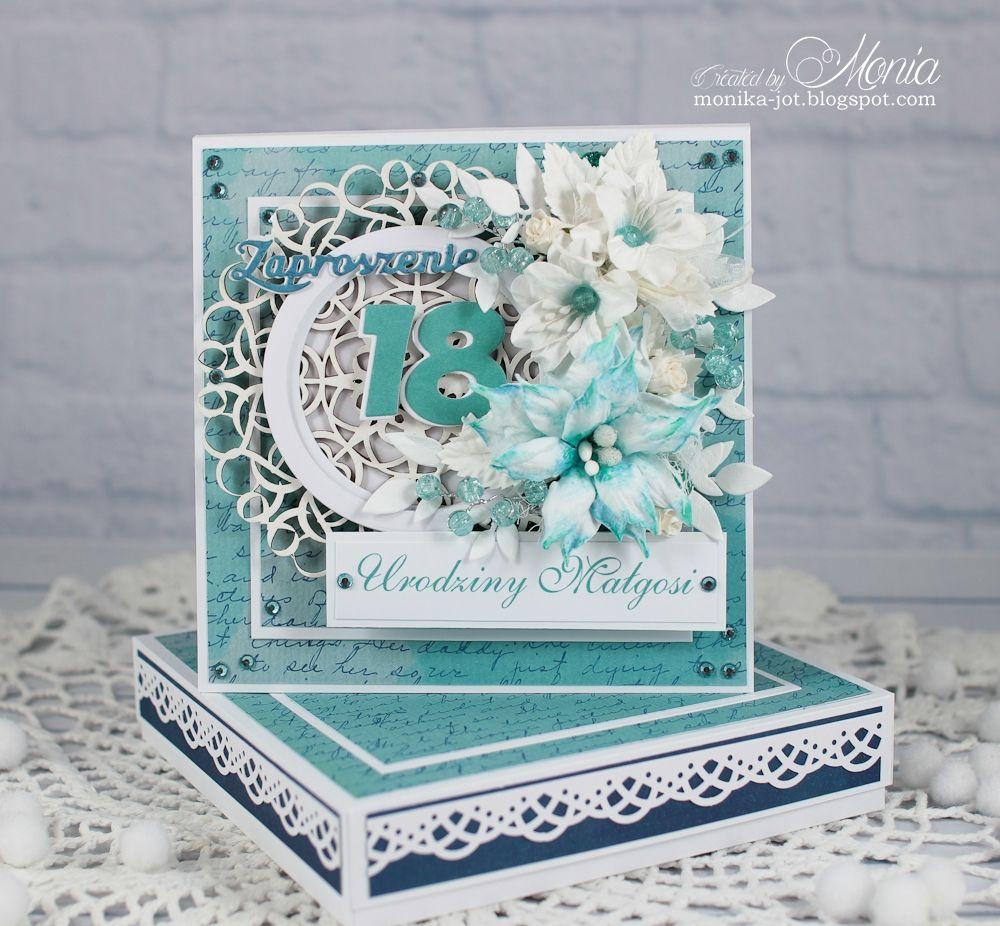 18-th Birthday Invitation With Handmade Flowers