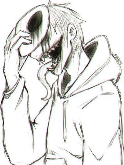 Eyeless Jack Tumblr Scary Drawings Creepy Drawings Dark Art Drawings