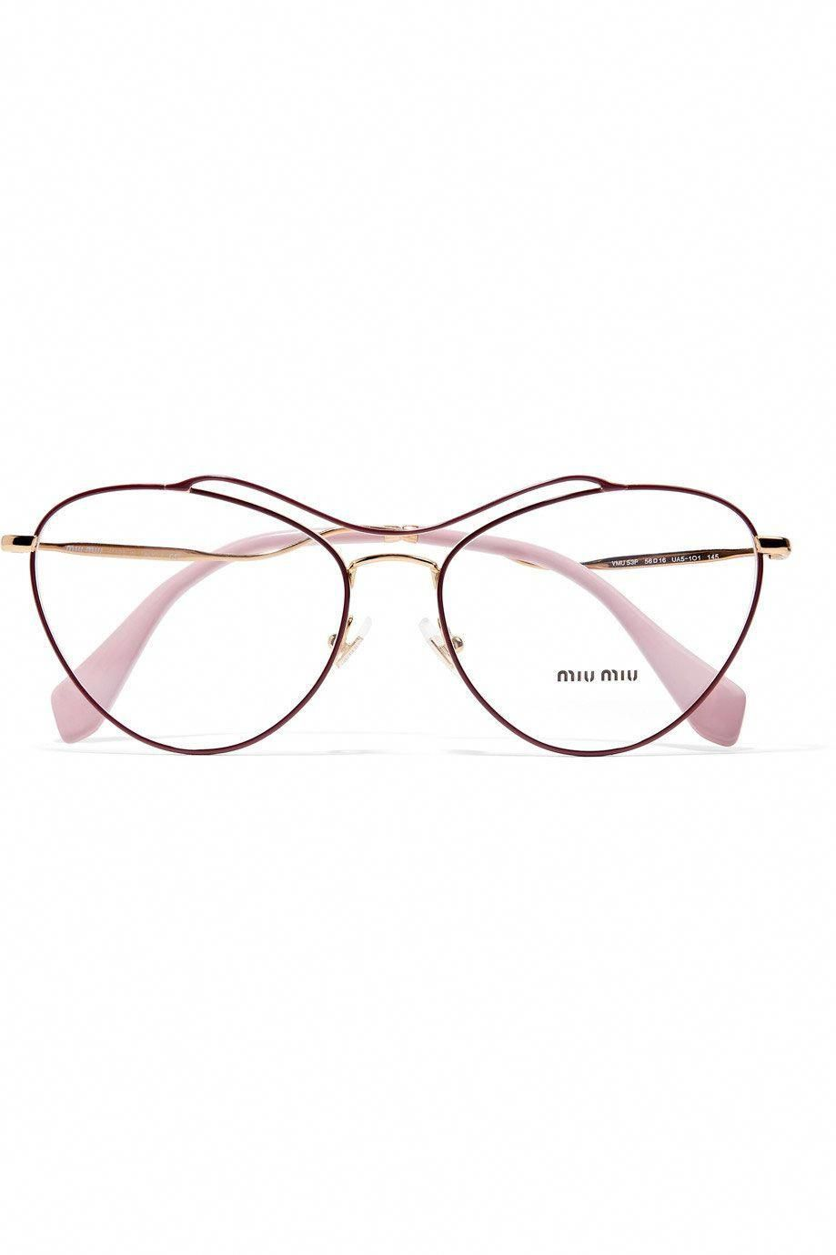 0064afd595 Embracing The Geekiness Of Wire-Rim Glasses+ refinery29  MiuMiu ...