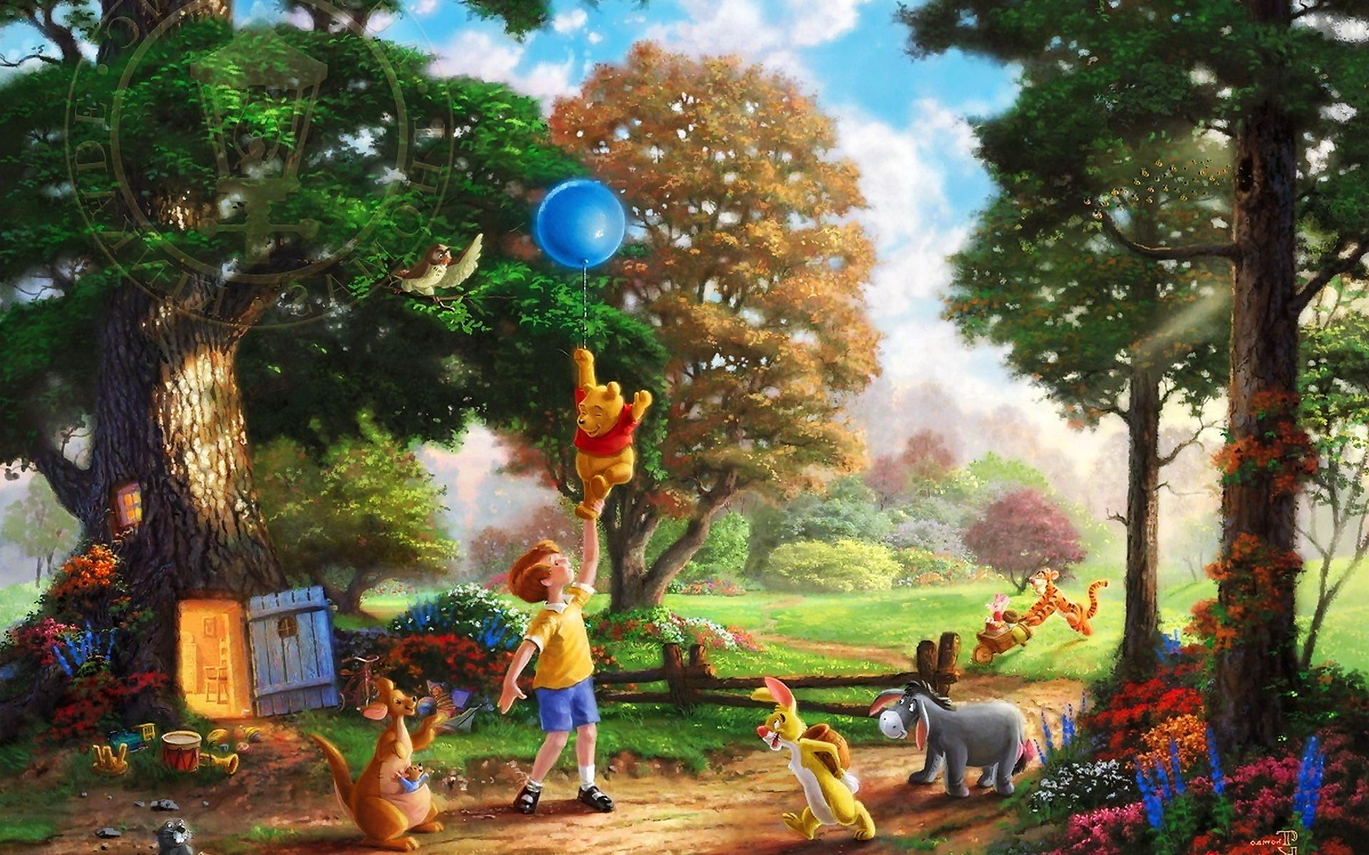 Winnie The Pooh Thomas Kinkade Wallpaper Images Pictures Photos Hd