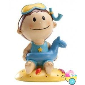 Figura de Pastel bautizo niño playa