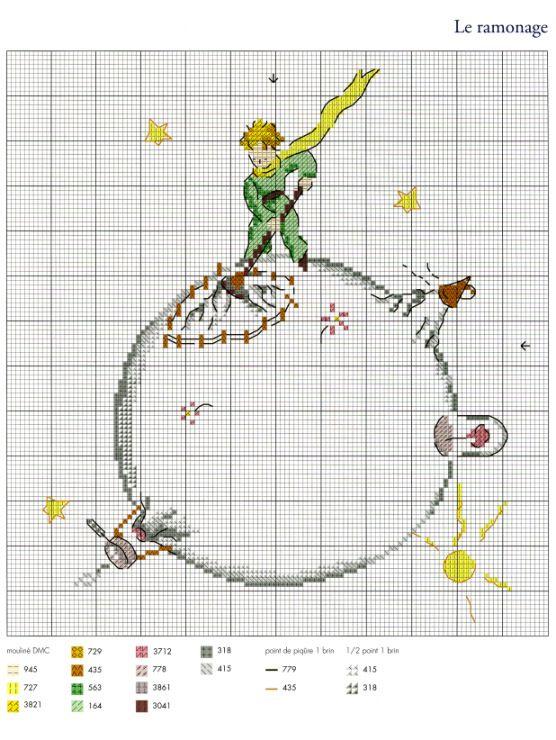 Gallery.ru / Фото #17 - Le Petit Prince a broder au point de croix ...