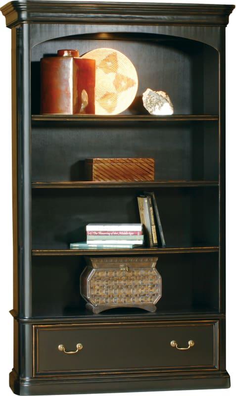 Hekman 79144 Louis Phillippe 50 Inch Wide Wood Lighted Bookcase Wood Veneer Indoor Furniture Storage Shelving Bookcase Wood Shelving Units Cool Bookshelves