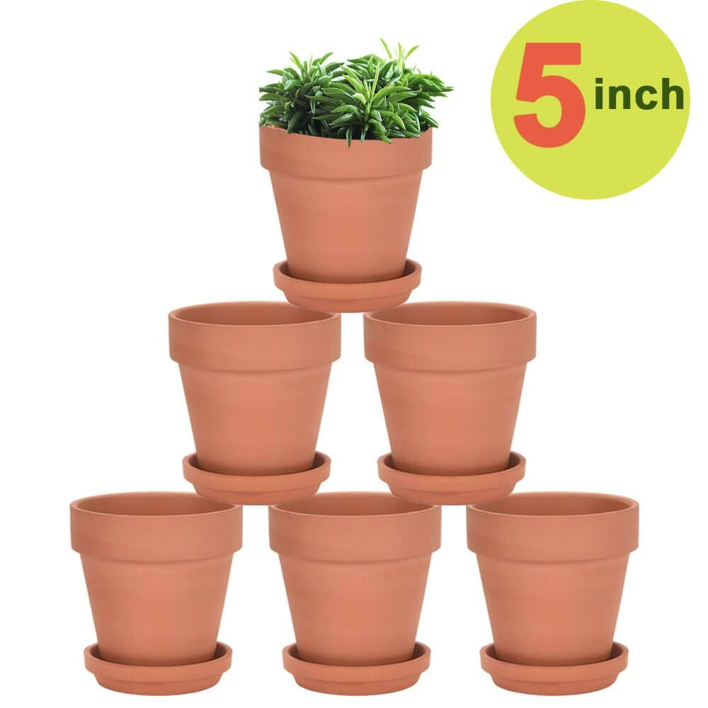Earth Fired Clay Low Sill Pot Saucer Set Fire Clay Small Clay Pot Fire Pots