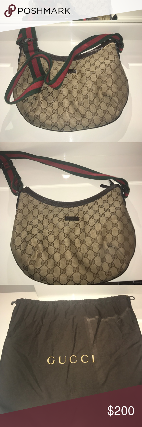 788c17bf23 old school gucci bag!!! great condition!! comes with dust bag Gucci Bags  Shoulder Bags
