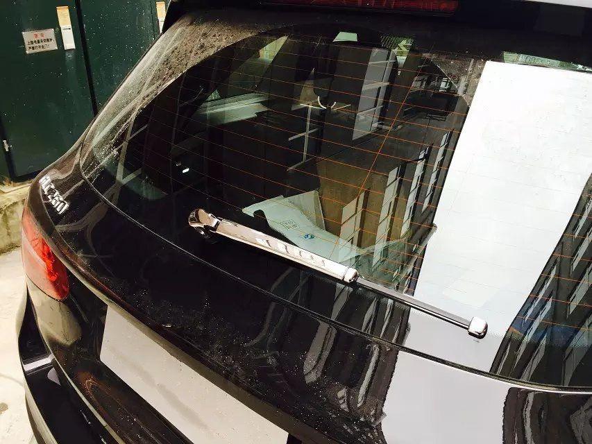 Abs Rear Window Wiper Cover Trim 4pcs For Mercedes Benz Glc Class