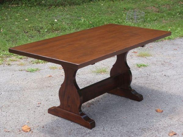 Antique Trestle Table   ... Trestle Thick Chestnut French Trestle Thick  Maple French Trestle