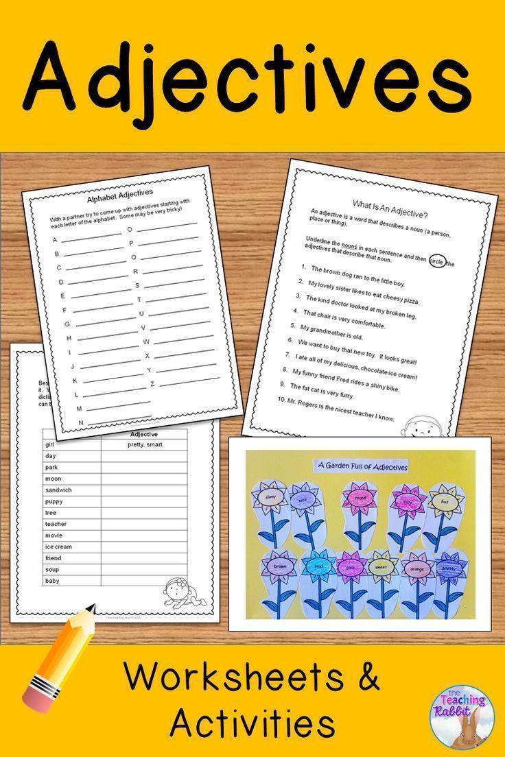 Adjectives Worksheets Homeschool La Pinterest Fun Worksheets
