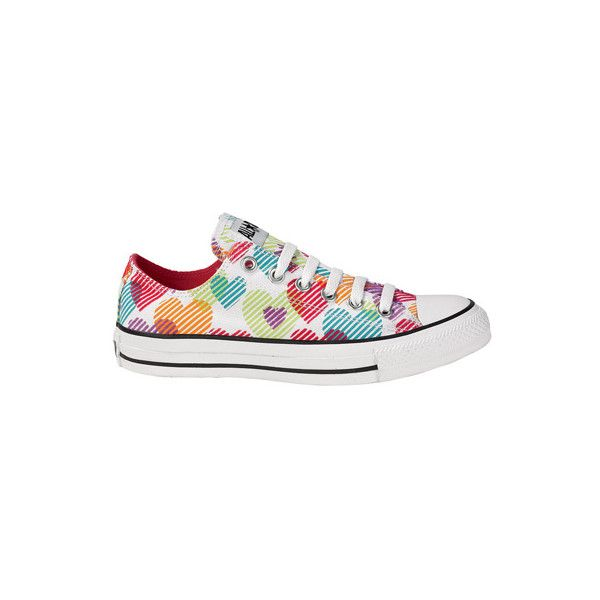 29e3644a5694 Journeys Shoes - Converse All Star Lo Hearts found on Polyvore ...