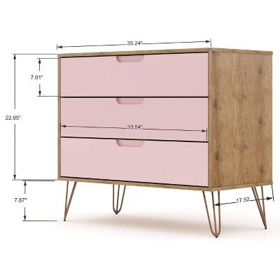 Best Rockefeller Dresser And Nightstand Set Pink Manhattan 640 x 480