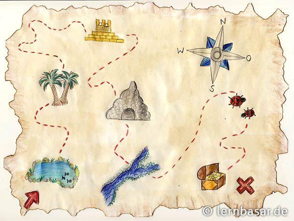 Die Schatzkarte Der Piraten Basteln Pinterest Treasure Maps