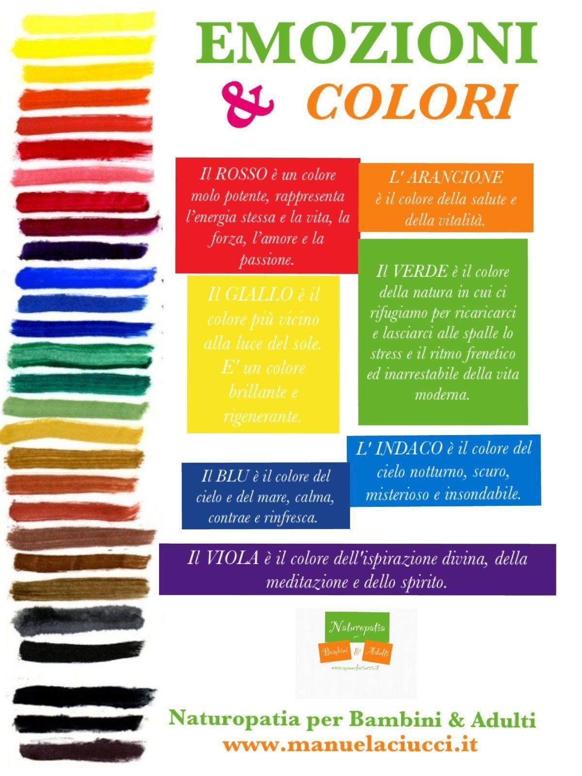 I Colori E Le Emozioni Italiano Education Montessori E School