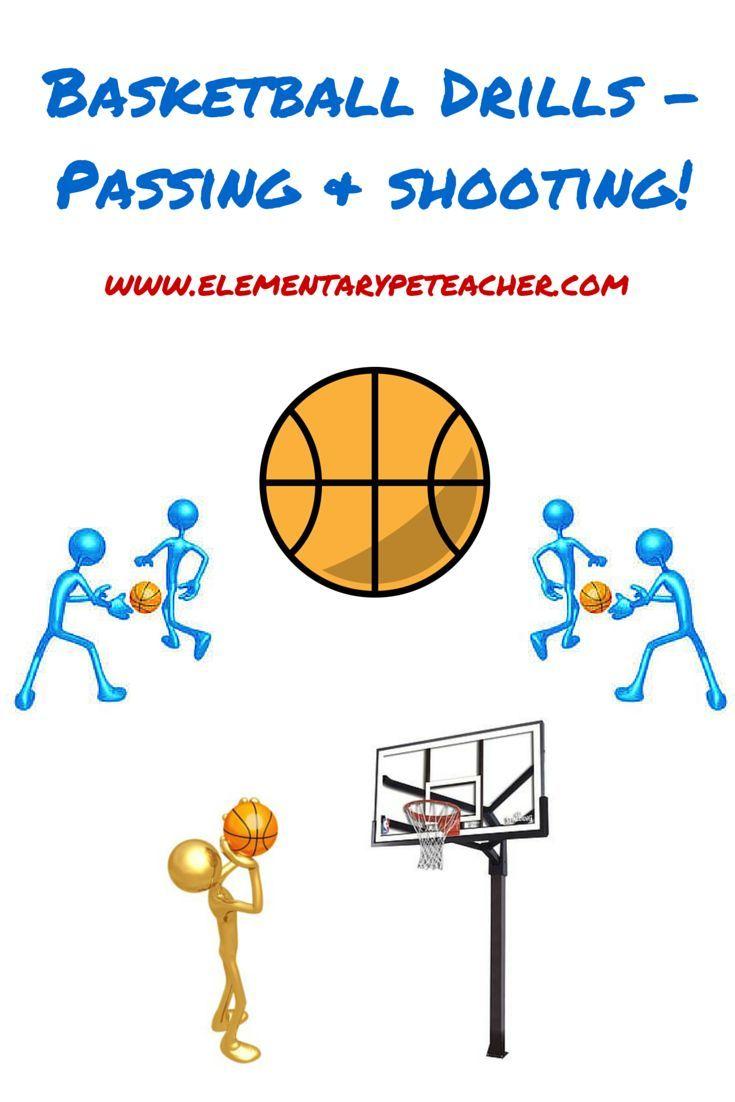 Basketball Drills Passing And Shooting Elementarypeteacher Com Basketball Drills Basketball Skills Basketball Workouts