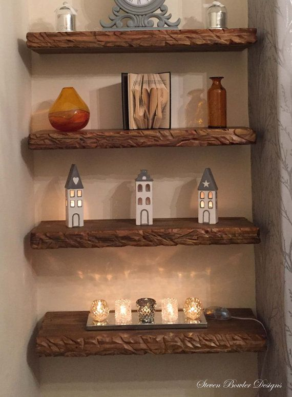 Buy 1 Get 1 40 Off 2ft Chunky Rustic Country Cottage Floating Wood Shelf Warm Medium Oak Stain Various Lengths Available Fixings Supplied With Images Floating Shelves Wood Shelves Rustic Floating Shelves