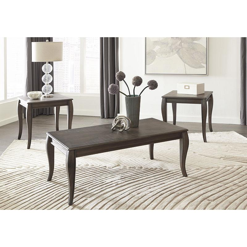 Signature Design By Ashley 3 Piece Vintelli Coffee Table Set
