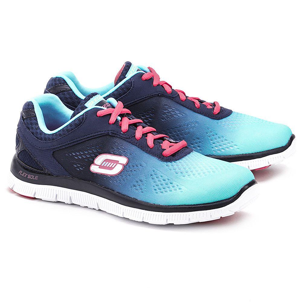 Skechers Style Icon Granatowe Nylonowe Sportowe Damskie Mivo Skechers Sketchers Sneakers Shoes