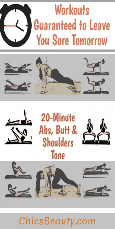 20 Minute Effective Workouts For Abs Butt Tone Your Whole Body Lift And Sculpt