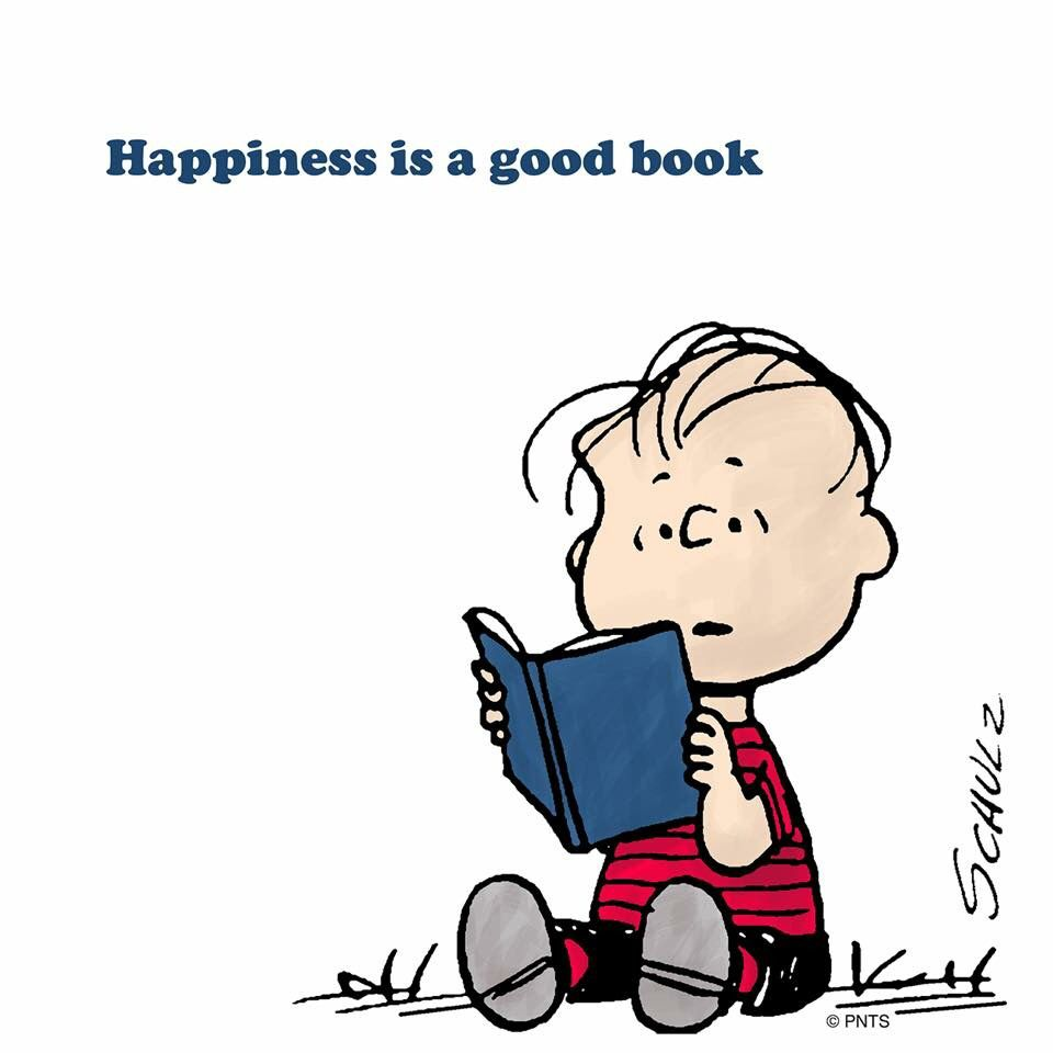 Happiness is a good book   Peanuts