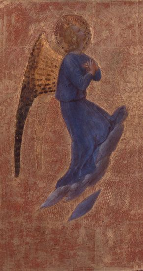 Giovanni da Fiesole detto il Beato Angelico, 1395/1400 - 1455. Angeli / Angels, Tempera su tavola / Tempera on panel, 37,5 x 25 cm ciascuna / each.