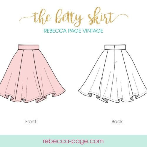 FREEBIE Betty - Vintage Circle Skirt Sewing Pattern - Rebecca Page 2