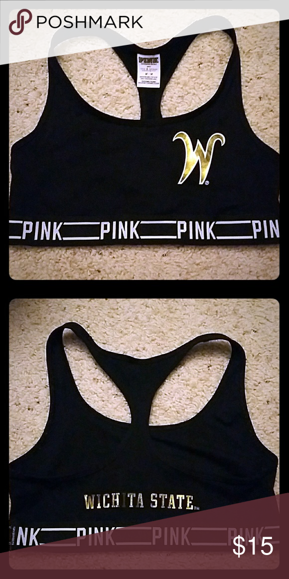 Wichita State Victoria's Secret Pink Sports Bra Wichita State University - Used Victoria's Secret Intimates & Sleepwear Bras